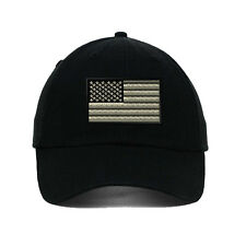 Black White American Flag Embroidered SOFT UNSTRUCTURED Hat Baseball Cap