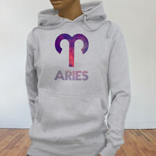 March April Fire Mars Ram Aries Astrological Sign Zodiac Womens Gray Hoodie