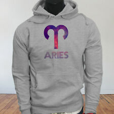 March April Fire Mars Ram Aries Astrological Sign Zodiac Mens Gray Hoodie