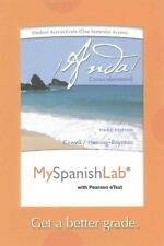 NEW Myspanishlab with Pearson Etext -- Access Card -- For Anda! Curso Elemental