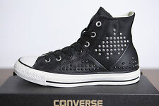 New All Star Converse Chucks Hi Leather Studded Studs 542418c Size 38 2-14
