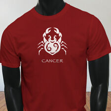 Water Moon Ruby Zodiac Cancer White Crab Astrological Sign Mens Red T-Shirt