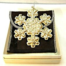 Vintage 1976 Gorham Sterling Silver Snowflake Christmas Ornament with Original B