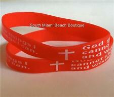 Serenity Prayer Bracelet Silicone Wrist Band Red AA NA Al-Anon Recovery USA