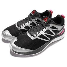Reebok SoQuick Black Silver Pink Womens Running Shoes Sneakers Trainers V72073
