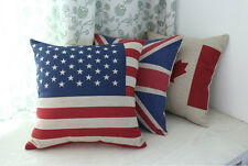 New British Vintage Union Jack Flag Throw Pillow Case Pillowcase Car Cushion Pad