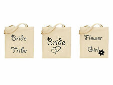 Wedding Personalised Tote Bags Customise Hen Do Bridesmaid Bride Tribe