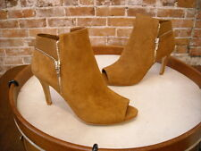 Marc Fisher Brown Suede Serenity Peep-Toe Ankle Bootie NEW
