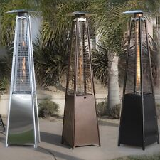 42,000BTU Deluxe Outdoor Pyramid Propane Glass Tube Dancing Flames Patio Heater