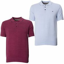 Mens Knitted Polo Maddox Street Classic short Sleeve Button Down Collared Top