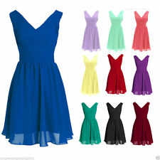 Short Bridesmaid Wedding Party Dress Formal Evening Cocktail Ball Gown Size2-22W