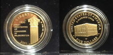 2001 Convene Congress 1800 $5 proof cameo proof USA gold--CAPITOL VISITOR CENTER