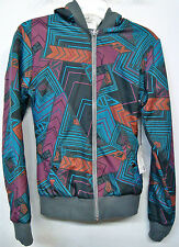 FOX RACING GIRLS TECHNOLOGIC GRAY/ORANGE/BLUE GIRLS/WOMENS REVERSIBLE HOODIE NEW
