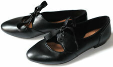 Clarks Cavier Toast Ladies Black Leather shoes/flats 3/35.5, 4/37, 4.5/37.5 D