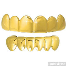 14K Gold Finish Polished Shiny Combo Teeth Grill by Best Grillz