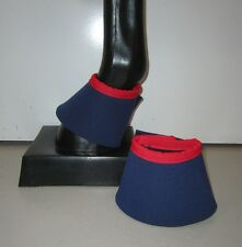 Horse Bell or Overreach Boots  Navy blue & Red AUSTRALIAN MADE Protection
