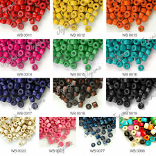 1200PCS Wholesale New Dyed Wood Donut Wooden Beads 3x4mm Free Ship 13 Colors