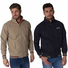 SLAZENGER NEW MENS RETRO VINTAGE COAT HARRINGTON BOMBER ZIP UP JACKET S - XXL