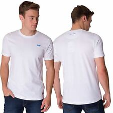 Skechers Mens Plain White T Shirt Short Sleeve Crew Neck Casual Cotton Tee Top