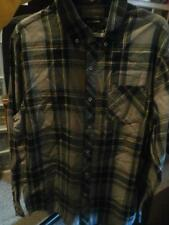 NEW MENS ADAM LEVINE DAYLIGHT LONG SLEEVE PLAID BUTTON UP SHIRT RED NAVY SIZE M