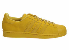 NEW MENS ADIDAS ORIGINALS SUPERSTAR CASUAL SHOES TRAINERS EQUIPMENT YELLOW
