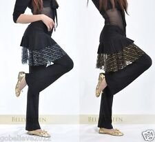 Brand New Sexy Yoga And Belly Dance Pants 2 Colors: Black/Silver And Black/Gold