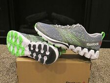 Men's REEBOK ZIG KICK SIERRA Running Training Shoes Sneakers V71946 Gray Green