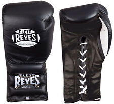 Cleto Reyes Traditional Lace Up Training Boxing Gloves - Black