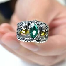 New 1x Lord of Rings LOTR Aragorn's Ring of Barahir Mens Crystal Ring Size 6-10