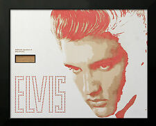 Elvis Presley signature card in amazing Lazer engraved display