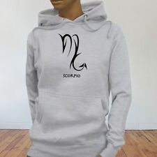 Horoscope Water Mars Zodiac Scorpio Astrological Sign Womens Gray Hoodie