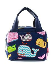 Whale Insulated Lunch Box-Lunch Tote Bag-Navy- Lunch Bag-Back to school!