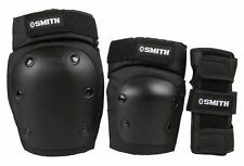 Smith Scabs Adult Combo Pack Black Roller derby/Skate Pad Set-Knee/Elbow/Wrist