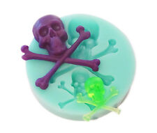 Skull and crossbones silicone reusable resin mold mould resin jewelry crafts