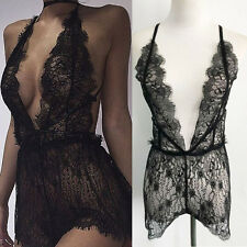 Sexy Lingerie Women's Lace Sheer Dress Babydoll Nightwear Underwear Sleepwear