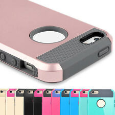 Hard Plastic Rugged Rubber 2in1 Shockproof Case Cover for iPhone5 5S SE US Stock