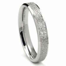 4MM Stainless Steel Sparkle Finish Beveled Men's Wedding Band Ring