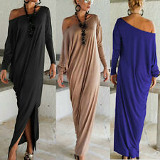 Womens Sexy Off Shoulder Maxi Dresses Loose Party Evening Long Dress Plus Size