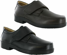 Roamers Extra Wide EEE Fit Leather Lightweight Velcro Mens Shoes Size 6-14