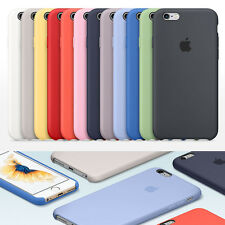Ultra-Thin Genuine Silicone Leather Soft Case Cover For Apple iPhone 7 6s 6 Plus