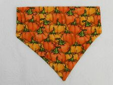 DOG/CAT/FERRET Over Collar REVERSIBLE Bandana~Halloween Holiday Pumpkin Patch