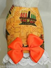 DOG CAT FERRET Travel Harness~KWANZAA African-American Holiday BOW & LACE