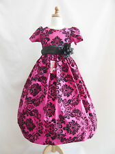 Beautiful Red Burgundy Fuchsia Purple Christmas wedding party flower girl dress