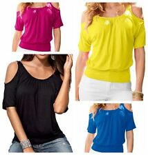 Plus Size Summer Women Loose Casual Short Sleeve Sexy T Shirt Tops Blouse Top TY