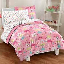 NEW Pretty Princess Girls Pink Microfiber Bedding Comforter Sheet Set
