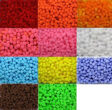BB FLUFFY POM POMS 10mm pk of 50 craft soft CHOICE OF COLOURS diy kids