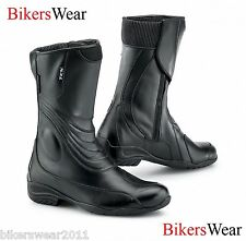TCX LADY AURA WP Waterproof Ladies Black Leather Women's Touring Boots + Socks