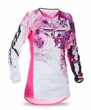 FLY Racing Kinetic 2017 Womens MX/Offroad Jersey Pink/Purple/White