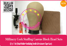 NEW Lace Wigs Making Millinery Cork Canvas Block Head