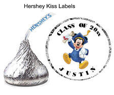 108 Mickey Mouse Graduation Party Favors Hershey Kiss Stickers Labels